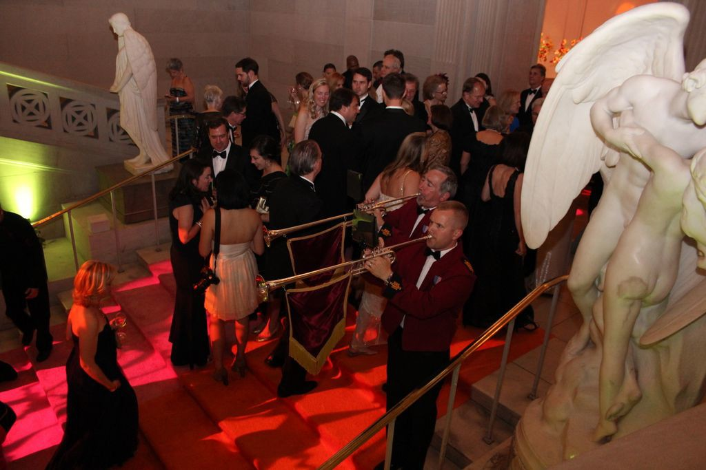 Herald Trumpeters at the Corcoran Ball